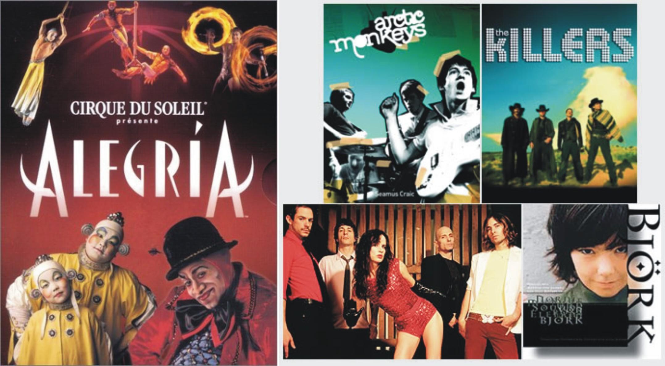 Cirque de Soleil, Tim Festival, e tantos outros exemplos da cultura nacional,…