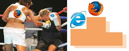Por fm o Firefox aplica o golpe final no ridículo adversário.